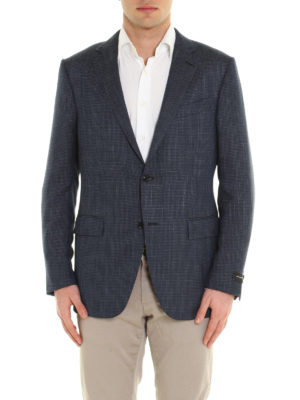 Ermenegildo Zegna: blazers online - Micro patterned structured blazer