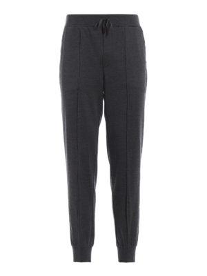 ERMENEGILDO ZEGNA: pantaloni casual - Pantaloni in maglia di lana seta e cotone