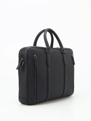 Ermenegildo Zegna: laptop bags & briefcases online - Dark blue leather briefcase