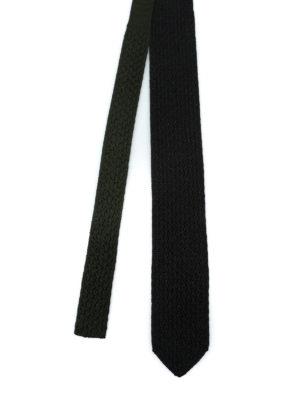 ERMENEGILDO ZEGNA: cravatte e papillion online - Cravatta double verde e nera in seta