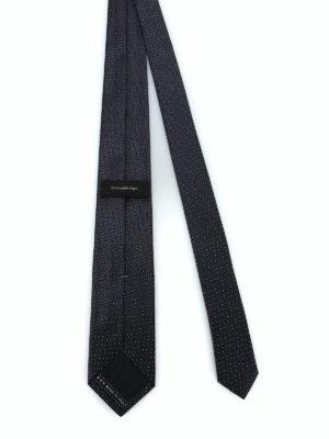 ERMENEGILDO ZEGNA: cravatte e papillion online - Cravatta in seta lucida jacquard nera