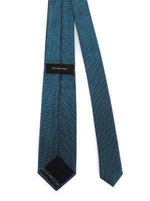 ERMENEGILDO ZEGNA: cravatte e papillion online - Cravatta in seta blu petrolio fantasia