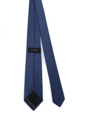 ERMENEGILDO ZEGNA: cravatte e papillion online - Cravatta in seta lucida jacquard blu