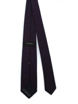 ERMENEGILDO ZEGNA: cravatte e papillion online - Cravatta in seta jacquard blu a pois rossi