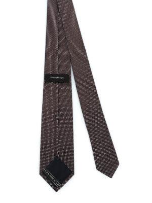 ERMENEGILDO ZEGNA: cravatte e papillion online - Cravatta in seta marrone fantasia