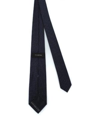 ERMENEGILDO ZEGNA: cravatte e papillion online - Cravatta in seta lucida jacquard blu scuro
