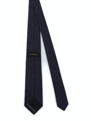 ERMENEGILDO ZEGNA: cravatte e papillion online - Elegante cravatta in seta blu scuro