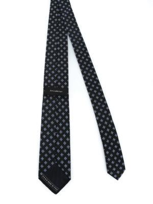 ERMENEGILDO ZEGNA: cravatte e papillion online - Cravatta in seta a motivo geometrico