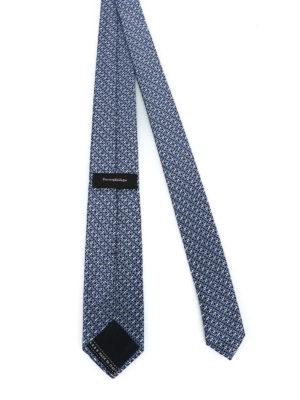 ERMENEGILDO ZEGNA: cravatte e papillion online - Cravatta in seta blu a motivo geometrico