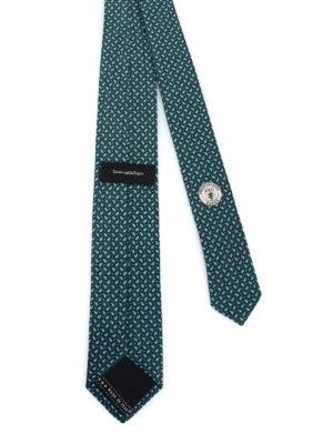 ERMENEGILDO ZEGNA: cravatte e papillion online - Cravatta verde in seta a motivo Paisley