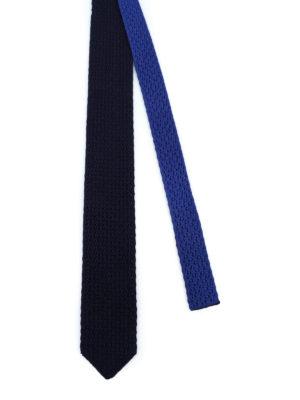 ERMENEGILDO ZEGNA: cravatte e papillion online - Cravatta double in seta lavorata a maglia