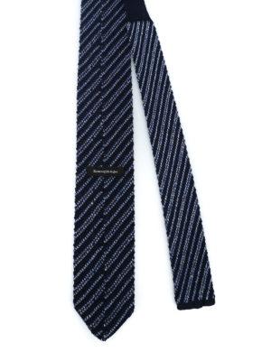 ERMENEGILDO ZEGNA: cravatte e papillion online - Cravatta blu in lana e seta a righe