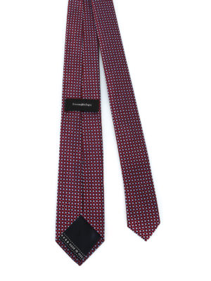 ERMENEGILDO ZEGNA: cravatte e papillion online - Cravatta in seta a micro rombi