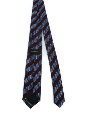 ERMENEGILDO ZEGNA: cravatte e papillion online - Cravatta in seta a righe e micro motivo