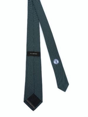 ERMENEGILDO ZEGNA: cravatte e papillion online - Cravatta in seta verde con micro pois