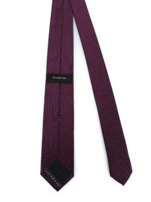 ERMENEGILDO ZEGNA: cravatte e papillion online - Cravatta in seta lucida jacquard viola