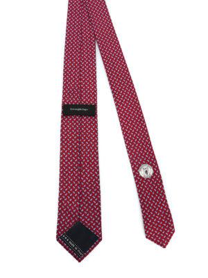 ERMENEGILDO ZEGNA: cravatte e papillion online - Cravatta rossa in seta a motivo Paisley