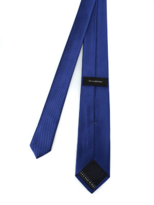 ERMENEGILDO ZEGNA: cravatte e papillion online - Cravatta in seta blu royal