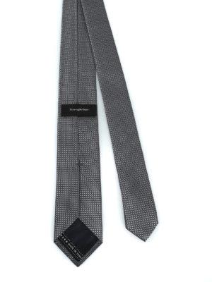 ERMENEGILDO ZEGNA: cravatte e papillion online - Elegante cravatta in seta grigio argento