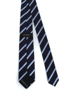 ERMENEGILDO ZEGNA: cravatte e papillion online - Cravatta Regimental in seta blu scuro