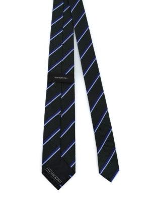 ERMENEGILDO ZEGNA: cravatte e papillion online - Cravatta in seta lavorata Regimental