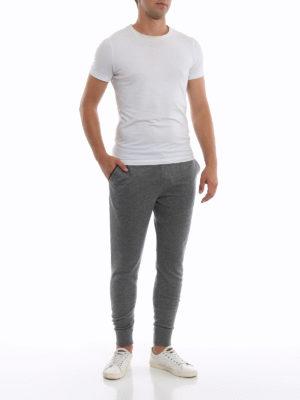 ERMENEGILDO ZEGNA: pantaloni sport online - Pantaloni da tuta grigi in maglia di cashmere