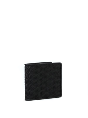 ERMENEGILDO ZEGNA: portafogli online - Portafoglio nero in Pelle Tessuta™