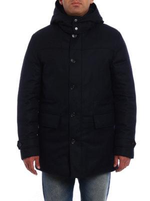 Ermenegildo Zegna: padded coats online - Wool flannel padded coat