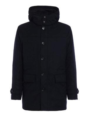 Ermenegildo Zegna: padded coats - Wool flannel padded coat