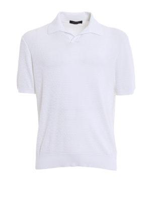 Ermenegildo Zegna: polo shirts - Embossed cotton polo shirt