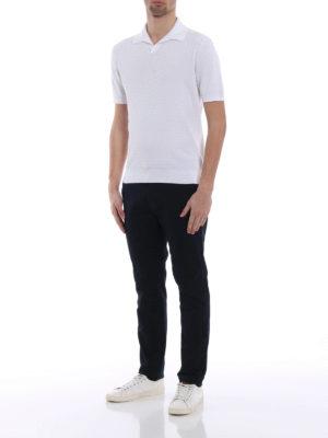 Ermenegildo Zegna: polo shirts online - Embossed cotton polo shirt