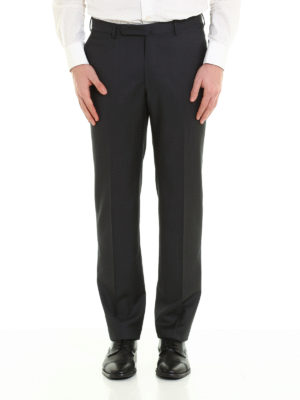 Ermenegildo Zegna: Tailored & Formal trousers online - Wool tailored trousers