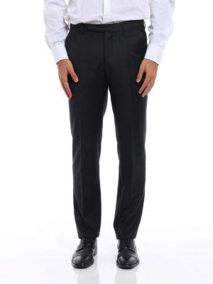 Ermenegildo Zegna: Tailored & Formal trousers online - Wool tailored trousers