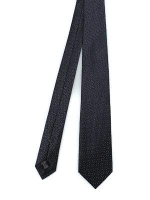 ERMENEGILDO ZEGNA: cravatte e papillion - Cravatta in seta lucida jacquard nera