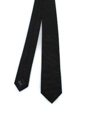 ERMENEGILDO ZEGNA: cravatte e papillion - Elegante cravatta nera in seta