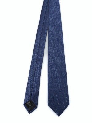 ERMENEGILDO ZEGNA: cravatte e papillion - Cravatta in seta lucida jacquard blu