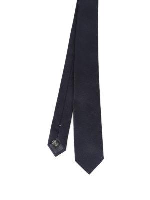 Ermenegildo Zegna: ties & bow ties - Blue silk jacquard tie