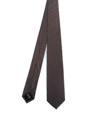 ERMENEGILDO ZEGNA: cravatte e papillion - Cravatta in seta marrone fantasia
