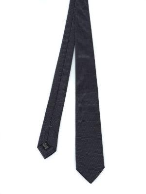 ERMENEGILDO ZEGNA: cravatte e papillion - Elegante cravatta antracite in seta