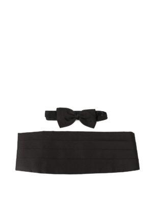 Ermenegildo Zegna: ties & bow ties - Cummerbund and bow tie tuxedo kit