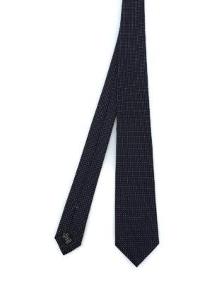 ERMENEGILDO ZEGNA: cravatte e papillion - Elegante cravatta in seta blu scuro