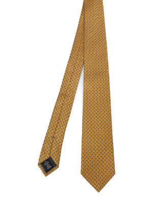 ERMENEGILDO ZEGNA: cravatte e papillion - Cravatta giallo oro in seta a motivo Paisley