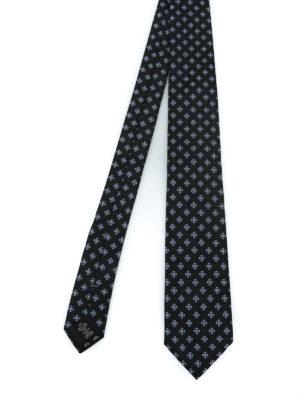 ERMENEGILDO ZEGNA: cravatte e papillion - Cravatta in seta a motivo geometrico