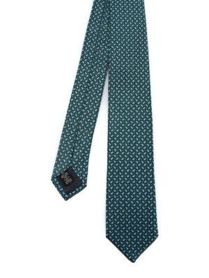 ERMENEGILDO ZEGNA: cravatte e papillion - Cravatta verde in seta a motivo Paisley
