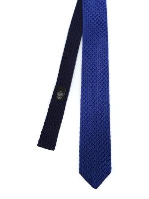 ERMENEGILDO ZEGNA: cravatte e papillion - Cravatta double in seta lavorata a maglia