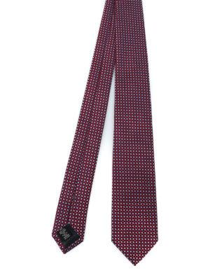 ERMENEGILDO ZEGNA: cravatte e papillion - Cravatta in seta a micro rombi