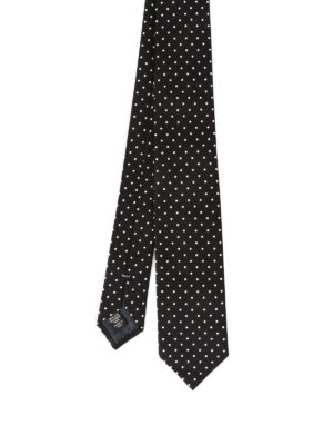 Ermenegildo Zegna: ties & bow ties - Micro check patterned silk tie