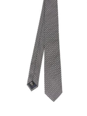 Ermenegildo Zegna: ties & bow ties - Micro patterned silk tie