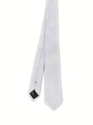 Ermenegildo Zegna: ties & bow ties - Micro polka dot pearly silk tie