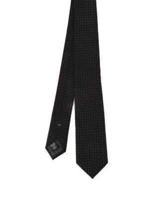 Ermenegildo Zegna: ties & bow ties - Mini polka dot black silk tie